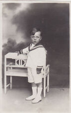 WWI POSTCARD PHOTOGRAPHIC YOUNG BOY IN NAVAL SAILOR DRESS
