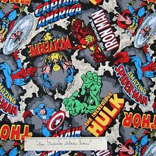 Marvel Fabric - CP50966 Comic Book Thor Spiderman Iron Man - Springs 19""