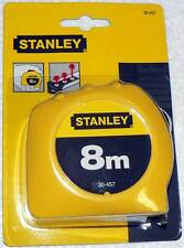 "Stanley 8m x 1"" Metric Only Tape Measure Rule Ruler 30-457 - New Factory Sealed"