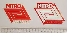 *** Nitro Snowboards - Snowboard Sticker Set - 2 Aufkleber - Backpacks  ***