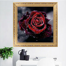 DIY 5D Red Rose Diamond Embroidery Painting Flower Cross Stitch Home Decor Craft