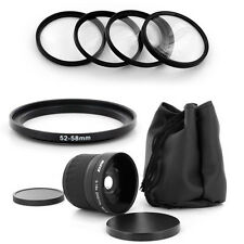 HD 52mm Wide Fish Eye 0.18x Lens,Macro for Nikon D50 D60 D70 D100 18-55mm camera