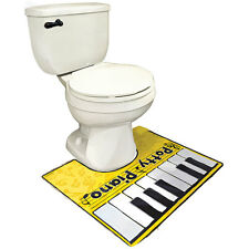 NEW Potty Piano Bathroom Fun Toe Tapping Musical Keyboard Vinyl Toilet Floor Mat