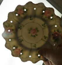 rare unmarked Bavaria 7 pc pudding set / holes for cooling / hand painted roses