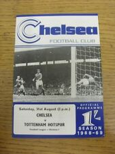 31/08/1968 Chelsea v Tottenham Hotspur  . Unless previously listed in brackets t