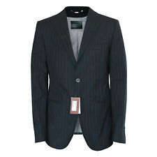 BALLY $1080 pinstriped navy sportcoat virgin wool cotton blazer jacket 40/50 NEW