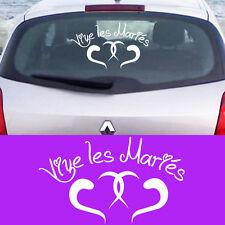 stickers autocollant déco voiture  MARIAGE  Vive les Mariés