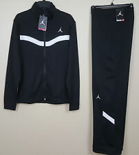 NIKE AIR JORDAN XI WARM UP SUIT JACKET + PANTS BLACK WHITE RARE NWT (SIZE SMALL)