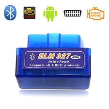 ELM327 OBD2 II V2.1 Bluetooth Car Diagnostic Scanner Android Torque Scan New CD