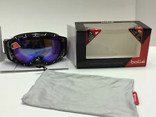 BOLLE GRAVITY BLACK AND ORANGE WAVES goggles ski snowboarding new with box 20924