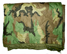 US Army WOODLAND Wet Weather PONCHO LINER Woobie Blanket US ACC