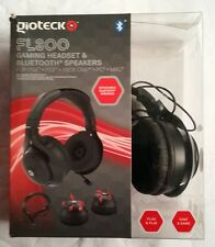 Gioteck FL-300 Wired Gaming Headset + Removable Bluetooth Speaker Black