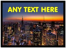 New York Sunset Personalised Computer Mouse Mat