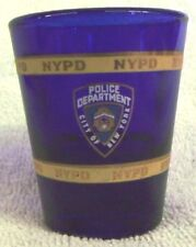 VINTAGE COLLECTIBLES--NYPD BLUE--SHOT GLASS--VERY NICE--GREAT PATINA