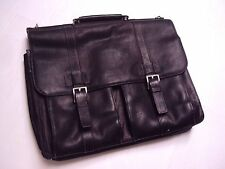 Kenneth Cole Mind Your Own Business Leather Computer Case Briefcase Brown NEW/de