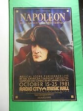 Napoleon Movie Poster 1981 Radio City Music Hall 1927 Masterpiece F Ford Coppola