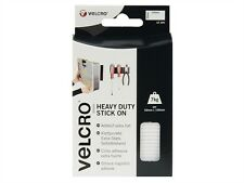 Velcro Brand Heavy-Duty Stick On Strips White 50mm x 100mm White