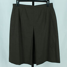 Talbots Petites Womens Size 10 Brown Wool Stretch Skirt Ladies Knee Length Suit