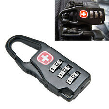 3 Dial Mini Alloy Safe Number Code Padlock Combination Luggage Lock