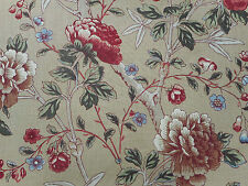 William Morris Curtain Fabric 'Tangley' 3.55 METRES (355cm) Manilla/Woad - Linen