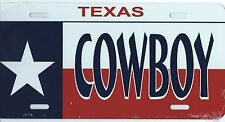 PLAQUE DE VOITURE AMERICAINE-TEXAS COWBOYS - NEUVE  DECORATION USA/ BIKER