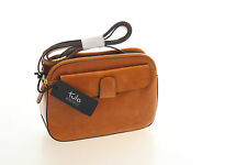 Tula Smooth Originals Tan Leather Compact Triple Compartment Shoulder Bag