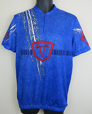 Vtg Cycling Blue Retro Jersey Top Shirt Vintage Trikot Skjorte Maglia Mens M