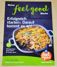 Weight Watchers Meine Feel Good Woche 10.1-16.1 SmartPoints 2016 Wochenbroschüre
