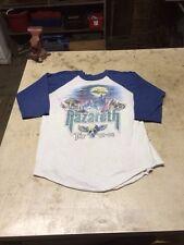 Rare Nazareth Tour Shirt Vtg Tshirt Heavy Metal 1981 Rock M Raglan 3/4 Sleeve