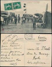 FRANCE COLONIES DJIBOUTI 1908 PPC PAQUEBOT POSTMARK