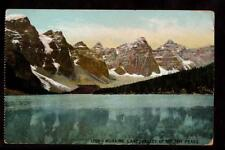 c.1907 Moraine Lake valley of the Ten Peaks Alberta Canada mountains postcard