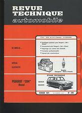 (30B) REVUE TECHNIQUE AUTOMOBILE PEUGEOT 204 DIESEL MOTEUR INDENOR