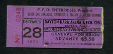 1977 Golden Earring Black Oak Arkansas Brownsville Station Concert Ticket Stub