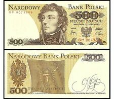 500 ZLOTYCH - BANKNOTE FROM POLAND  - MINT UNC CONDITION - POLISH ZLOTY