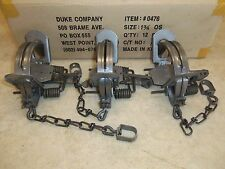 3 New Duke # 1 3/4 OFFSET Coil Spring Traps  Raccoon Coyote Bobcat Fox
