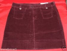 PATAGONIA WOMEN'S STRETCH ORGANIC COTTON CORDUROY SKIRT Sz 8 BURGUNDY $65 NWT