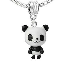 Standing up Panda Bear Resin Charm Bead Compatible for Most European Snake Chain
