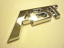 CUSTOM CHROME ABT TUNED BADGE AUDI A1 A3 A4 VW GOLF GTI TDI R SKODA VRS RS3 RS4