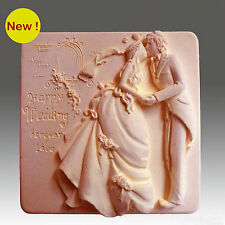 Happy Wedding - Detail of high relief sculpture,silicone mold, soap mold