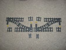 Custom Lego Train Stubby Switch Track Double Crossover Kit - Many Configurations