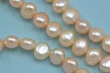 8-9mm Peach Champagne Baroque Nugget Freshwater Pearls Beads AA