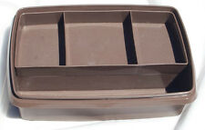 Vintage Brown TUPPERWARE Organizer BOX craft beading scrapbooking sewing