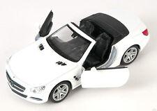 BLITZ VERSAND Mercedes SL 500 Cabrio 2012 weiss white Welly Modell Auto 1:34 NEU