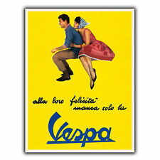 VESPA Bikes Italian Vintage Retro Old Advert METAL WALL SIGN PLAQUE poster print