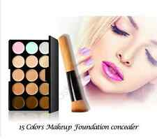 15 Colour Camouflage Concealer Make Up Cream Correction Palette Plus Brush