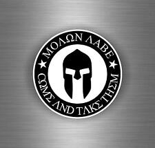 Sticker car moto tuning airsoft molon labe spartan warrior helmet motorcycle r7