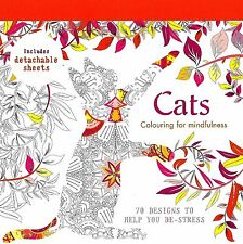 Cats (Adult Colouring Book) (Mindfulness Anti-Stress Relaxing Cat P/B) (New)