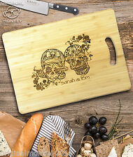 SUGAR SKULL PERSONALISED GIFT CHOPPING BOARD CHEESE BOARD WEDDING GIFT