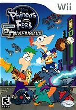 NEW Wii Disney Phineas and Ferb: Across the 2nd Dimension Sealed Free Shipping !