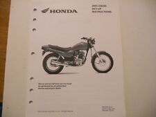 NOS Honda Set Up Instructions Manual 2003 CB250